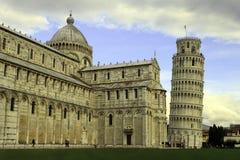Torn av Pisa och domkyrkan Royaltyfria Bilder