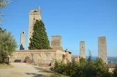 Torn av San Gimignano Arkivfoto