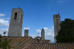 Torn av San Gimignano, Tuscany, Italien Royaltyfri Bild