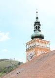 Torn av slotten i Mikulov Arkivbilder