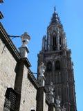 Torn av St Mary av Toledo, Spanien arkivfoto