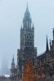Torn av stadshuset i Munich Royaltyfria Foton