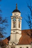 Torn av stadshuset - Uhersky Brod, Tjeckien Royaltyfria Bilder