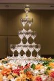 Torn av vinexponeringsglas Arkivbild