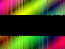 Torn banner with colorful background Royalty Free Stock Image