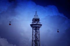 Torn Barcelona för kabelbil Royaltyfria Foton