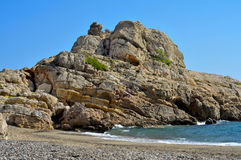 Torn Beach in Hospitalet del Infant, Spain Stock Photos
