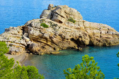 Torn Beach in Hospitalet del Infant, Spain Stock Photos