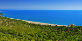 Torn Beach in Hospitalet del Infant, Spain Royalty Free Stock Photography