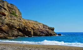Torn Beach in Hospitalet del Infant, Spain Stock Photo