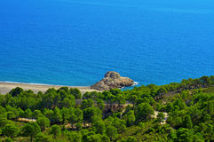 Torn Beach in Hospitalet del Infant, Spain Stock Photography