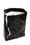 Torn Black Shopping Bag Stock Photography