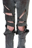 Torn and Bloody Jeans Stock Photography