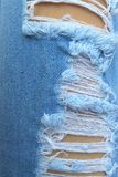 Torn blue jeans Royalty Free Stock Images