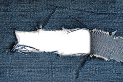 Torn blue jeans texture Royalty Free Stock Image
