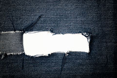 Torn blue jeans texture Stock Images