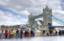 torn bridge1 Arkivbild