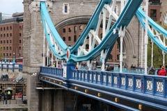 torn bridge1 Royaltyfri Foto