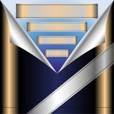 Metallic banners Royalty Free Stock Photo