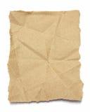 Torn brown  crumpled paper Stock Image