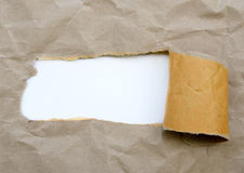 Torn brown paper Stock Photo