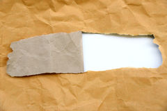 Torn brown paper Royalty Free Stock Photos