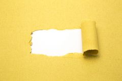 Torn brown paper Royalty Free Stock Image