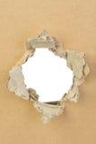 Torn cardboard. Royalty Free Stock Image