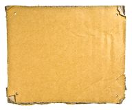 Torn Cardboard Stock Photography