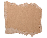 Torn Cardboard. Torn brown cardboard useful for a background and/or ready for a message stock images