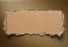 Torn cardboard background Stock Image