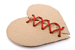 Torn cardboard heart Royalty Free Stock Photography
