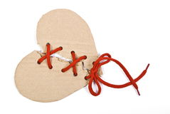 Torn cardboard heart Stock Photos