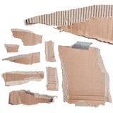 Torn Cardboard Pieces Royalty Free Stock Photo