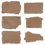Torn cardboard pieces set Stock Images