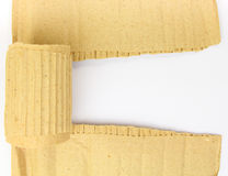 Torn cardboard sheet with place for text isolated Royalty Free Stock Photo