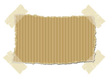 Torn cardboard with sticky tape stock illustration