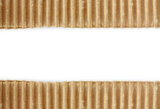 Torn cardboard texture on white Royalty Free Stock Images