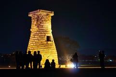 Torn Cheomseongdae för astronomisk observation Arkivfoton
