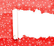 Torn Christmas decorative paper Royalty Free Stock Photo