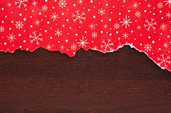 Torn Christmas decorative paper Stock Photo