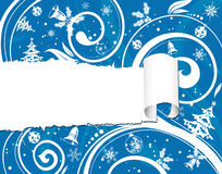 Torn christmas paper Royalty Free Stock Images