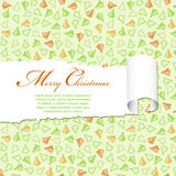 Torn Christmas Paper Stock Photography