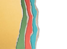 Torn color cardboard edges isolated Stock Photo