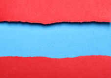 Torn color paper Royalty Free Stock Photo