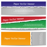Torn Color Paper Banners Stock Image