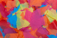 Torn colored tissue paper. Colored tissue paper torn in different sized pieces Royalty Free Stock Photos