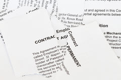Torn contract. Concept - many uses in the manufacturing and legal industry stock images
