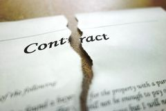 Torn contract Stock Photography