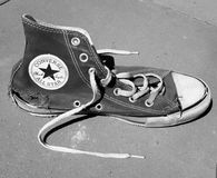 Torn Converse All Star stock photography